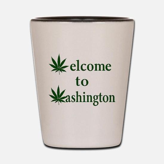 Welcome to Washington Marijuana Shot Glass