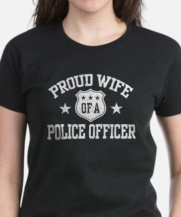 Proud Wife of a Police Officer Women's Dark T-Shir