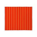 Red and Orange Stripes Pattern Throw Blanket
