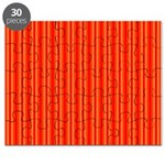 Red and Orange Stripes Pattern Puzzle