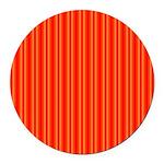Red Orange Stripes Round Car Magnet
