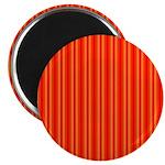 Red and Orange Stripes Pattern Magnet