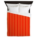 Red and Orange Stripes Pattern Queen Duvet