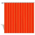 Red and Orange Stripes Pattern Shower Curtain