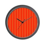 Red and Orange Stripes Pattern Wall Clock