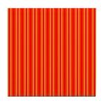 Red and Orange Stripes Pattern Tile Coaster
