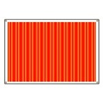 Red and Orange Stripes Pattern Banner