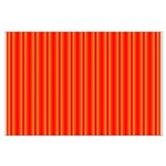 Red and Orange Stripes Pattern Large Poster