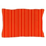 Red and Orange Stripes Pattern Pillow Case