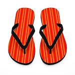 Red and Orange Stripes Pattern Flip Flops