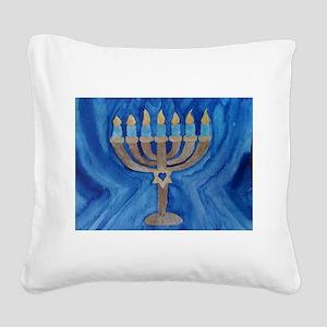 HANUKKAH MENORAH Square Canvas Pillow