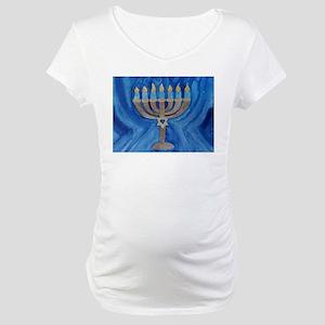HANUKKAH MENORAH Maternity T-Shirt
