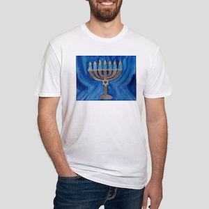 HANUKKAH MENORAH Fitted T-Shirt