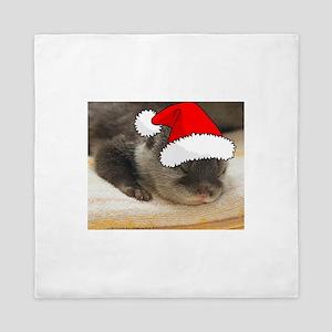 Christmas Otter Queen Duvet