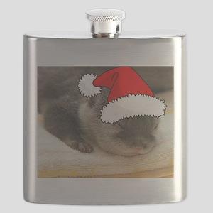 Christmas Otter Flask