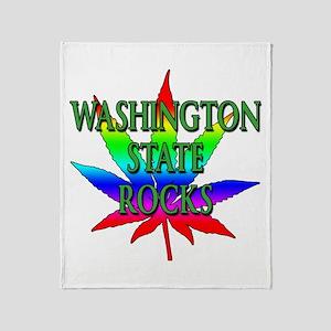 Washington State Rocks Throw Blanket