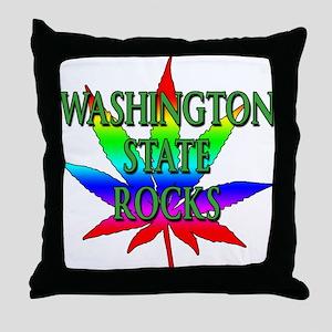 Washington State Rocks Throw Pillow