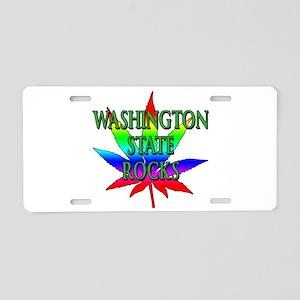 Washington State Rocks Aluminum License Plate