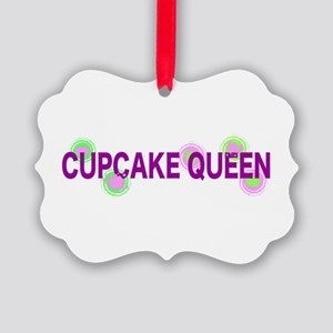 Cupcake Queen Picture Ornament