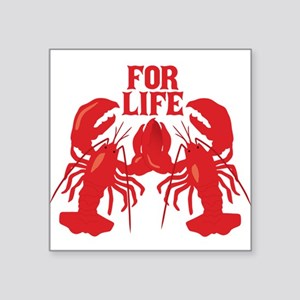 "Lobsters Mate For Life Square Sticker 3"" x 3"""
