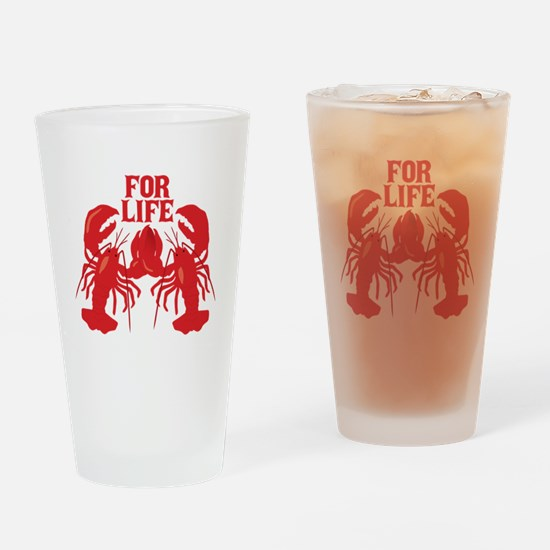 Lobsters Mate For Life Drinking Glass