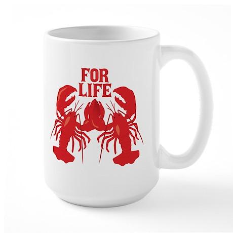 Lobsters Mate For Life Large Mug