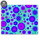 Purple and Blue Hippie Flower Pattern Puzzle
