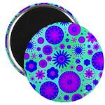 Purple and Blue Hippie Flower Pattern 2.25