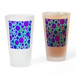 Purple and Blue Hippie Flower Pattern Drinking Gla