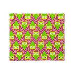 Neon Owl Pattern Throw Blanket