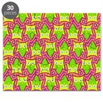 Neon Owl Pattern Puzzle