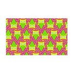 Neon Owl Pattern 35x21 Wall Decal