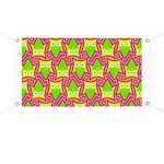 Neon Owl Pattern Banner