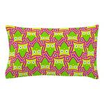 Neon Owl Pattern Pillow Case