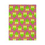 Neon Owl Pattern Twin Duvet