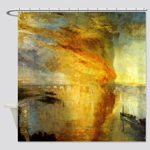 The Burning of Parliament by Turner Shower Curtain