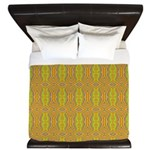 Retro Yellow Pattern King Duvet