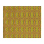 Retro Yellow Pattern Throw Blanket