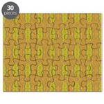 Retro Yellow Pattern Puzzle