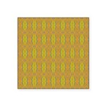 Retro Yellow Pattern Square Sticker 3