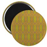 Retro Yellow Pattern Magnet