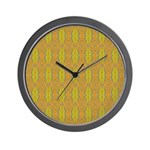 Retro Yellow Pattern Wall Clock