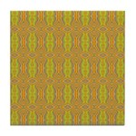Retro Yellow Pattern Tile Coaster