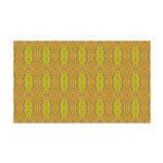 Retro Yellow Pattern 35x21 Wall Decal