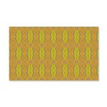 Retro Yellow Pattern 20x12 Wall Decal