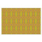 Retro Yellow Pattern Large Poster
