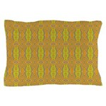 Retro Yellow Pattern Pillow Case