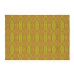 Retro Yellow Pattern 5'x7'Area Rug