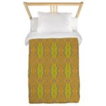 Retro Yellow Pattern Twin Duvet