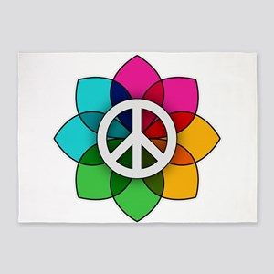 Flower of Peace 5'x7'Area Rug